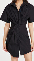 Thumbnail for your product : alexanderwang.t Twisted Placket Short Sleeve Dress