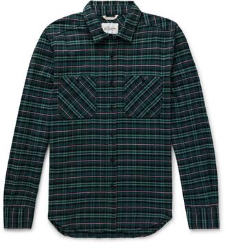 Albam Checked Cotton-Flannel Shirt