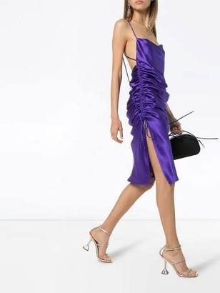 Galvan Yasmin Midi Slip Dress Purple
