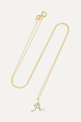 STONE AND STRAND Alphabet 14-karat Gold Pearl Necklace - C