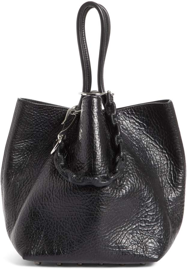 Alexander Wang Small Roxy Covered Chain Leather Bucket Bag