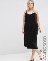 Asos Basic Rib Midi Cami Slip Dress
