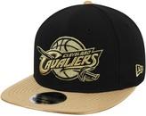 New Era Men's Black Cleveland Cavaliers Metallic Gold Snapback Hat