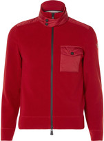 Moncler Grenoble - Shell-trimmed Fleece Zip-up Base Layer
