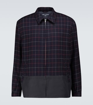 Comme des Garçons Homme Tattersall checked wool jacket