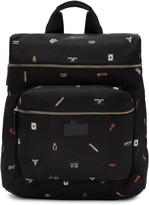 Paul Smith Black 'Cufflink Charm' Print Backpack