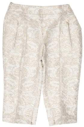Andrew Gn Cropped Brocade Pants