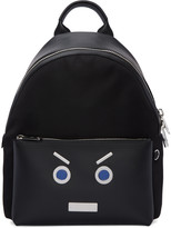 Fendi Black Faces Backpack