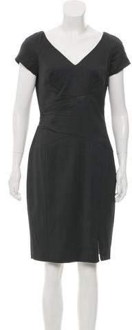 Rachel Zoe Short Sleeve Draped Knee-length Dress