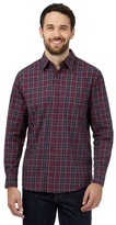 Maine New England Red Check Print Buttoned Shirt