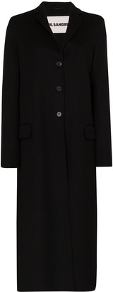 Jil Sander Fullerton single-breasted cashmere coat