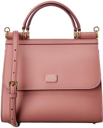 Dolce & Gabbana Sicily 58 Small Leather Satchel