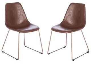 Safavieh Dorian Mid-Century Faux Leather Dining Chair