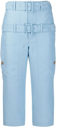 Lanvin double belted cropped trousers