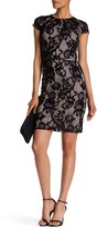 Sandra Darren Short Sleeve Lace Dress
