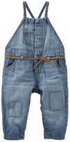 Osh Kosh Baby Girl Patched Denim Overalls