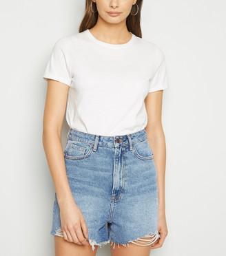 New Look Tall High Waist Denim Mom Shorts