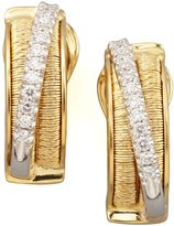 Marco Bicego Diamond Cairo 18k Small Huggie Earrings with Diamonds