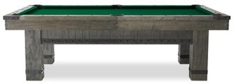"""Plank & Hide Morse Slate Pool Table With Professional Installation Included Felt Color: Green, Size: 90"""" L x 51"""" W x 31"""" H"""