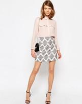 Asos A-Line Mini Skirt in Premium Jacquard