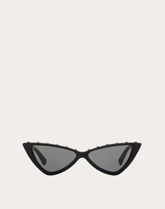 Valentino Cat-eye Frame Acetate Vltn Sunglasses Women Black OneSize