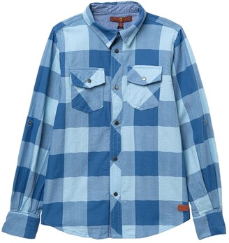 7 For All Mankind Check Button Down Shirt