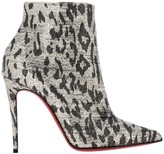 Christian Louboutin So Kate Booties In Spotted Lurex Fabric