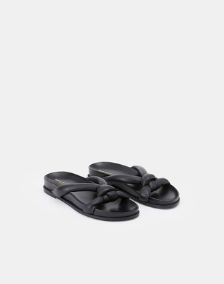 Lafayette 148 New York Nappa Leather Honore Flat Sandal