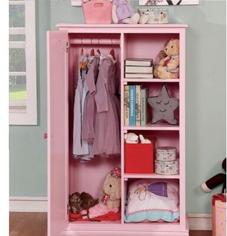 Harriet Bee Morethampstead Kid Armoire Color: Pink