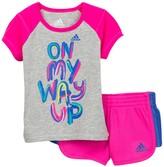 adidas On My Way Up Short Set (Baby Girls)