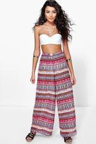 Boohoo Daisy Aztec Edge Beach Trouser