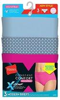 Hanes Women's Standard Constant Comfort Microfiber Modern Brief 3-Pack Panty