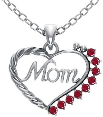 Essence Jewelry Country Of Ruby Sterling Silver Round Short Pendent by Essence Jewelry