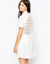 French Connection Maui Lace Shirt Dress