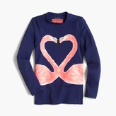 J.Crew Girls' rashguard in kissing flamingos