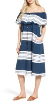 Faithfull The Brand Women's Majorca Stripe Off The Shoulder Dress