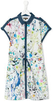 Roberto Cavalli teen printed dress - kids - Cotton - 14 yrs
