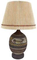 One Kings Lane Vintage,  Lamp, Brown/multi/Shade, Beige, In Stock