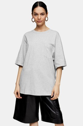 Topshop Grey Marl T-Shirt