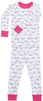 New Jammies White Bicycle Hills Organic Pajama Set - Infant Toddler & Kids