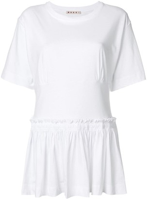 Marni Frilled Flared Blouse