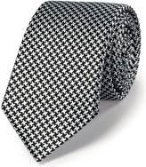 Charles Tyrwhitt Black silk classic puppytooth slim tie