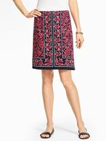 Talbots A-Line Skirt - Bandana Paisley
