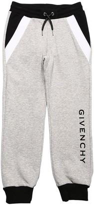 Givenchy Color Block Cotton Blend Sweatpants