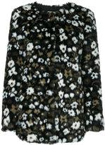 MICHAEL Michael Kors Floral Faux Fur Jacquard jacket - women - Acrylic/Modacrylic/Polyester - XS