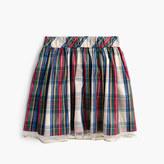 J.Crew Girls' tulle-hem skirt in festive plaid