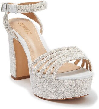 Schutz Nylza Leather Platform Sandal