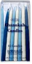 Rite Lite Rite-Lite Judaica Deluxe Blue & White 4.7-Inch Chanukah Candles, Box of 45