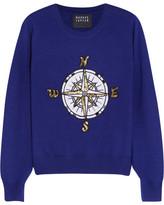 Markus Lupfer Compass Embellished Merino Wool Sweater - Navy
