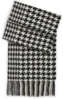 Wool Houndstooth 'SC478' Scarf by BOSS Black